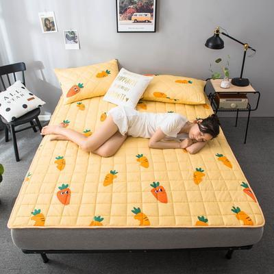 2020春款四季印花床垫床褥床护垫榻榻米垫磨毛加厚 90*200cm 胡萝卜1cm
