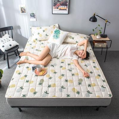 2020春款四季印花床垫床褥床护垫榻榻米垫磨毛加厚 90*200cm 菠萝1cm