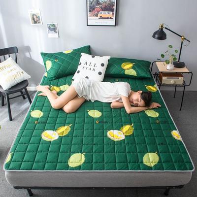2020春款四季印花床垫床褥床护垫榻榻米垫磨毛加厚 90*200cm 榴莲1cm