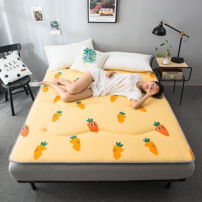 2020春款四季印花床垫床褥床护垫榻榻米垫磨毛加厚 90*200cm 胡萝卜4cm