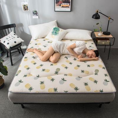 2020春款四季印花床垫床褥床护垫榻榻米垫磨毛加厚 90*200cm 菠萝4cm