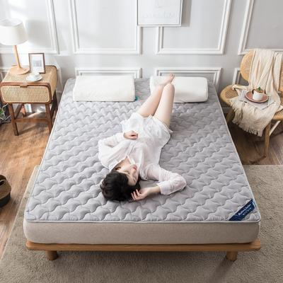 全棉抗菌夹棉防螨床护垫英威达纤维防滑席梦思保护垫1.51.8 0.9*2.0米 灰色
