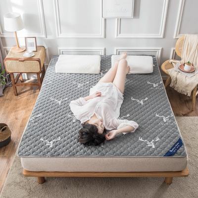 2020年新款针织乳胶床护垫防滑席梦思保护垫榻榻米垫 0.9*2.0米 灰色