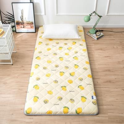 2020年春季新款床褥榻榻米地墊單人學生床墊宿舍90cm加厚 0.9*1.9米 檸檬