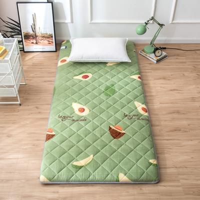 2020年春季新款床褥榻榻米地墊單人學生床墊宿舍90cm加厚 0.9*1.9米 牛油果
