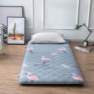2020年春季新款床褥榻榻米地墊單人學生床墊宿舍90cm加厚 0.9*1.9米 火烈鳥灰