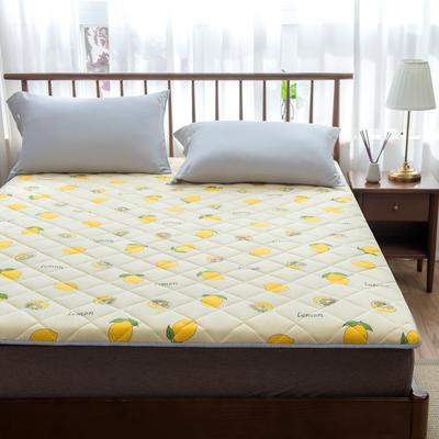 2020年春季新款床褥榻榻米地墊學生床墊雙人加大150cm1.8m 0.9*1.9米 檸檬