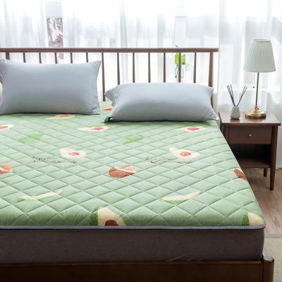2020年春季新款床褥榻榻米地墊學生床墊雙人加大150cm1.8m 0.9*1.9米 牛油果