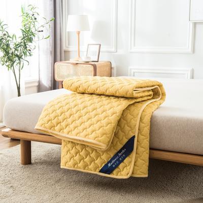 2020年新款針織乳膠床護墊防滑席夢思保護墊榻榻米床墊 0.9*2.0M 貴族黃