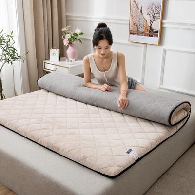 2020新款牛奶绒保暖乳胶床垫 0.9*2.0m 1.5kg 牛奶绒米色