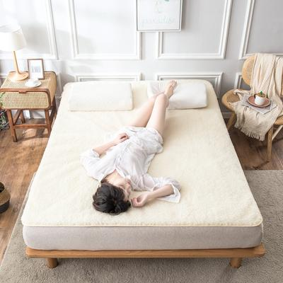 2020新款羊毛床垫 纯羊毛垫 保暖 秋冬 软褥子 0.9*2.0m 白