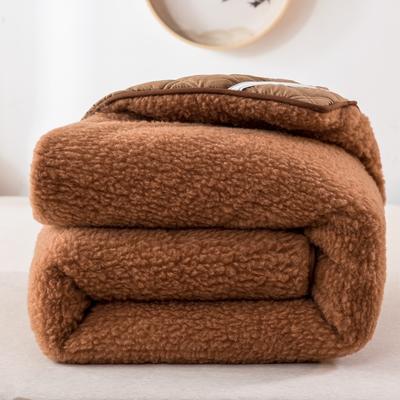 2020新款羊毛床垫 纯羊毛垫 保暖 秋冬 软褥子 1.5*2.0m 驼