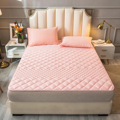 2021新款全棉抗菌防螨加厚床垫系列单人双人 1.2*2.0m 1.5CM粉色