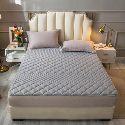 2021新款全棉抗菌防螨加厚床垫系列单人双人 1.2*2.0m 1.5CM灰色