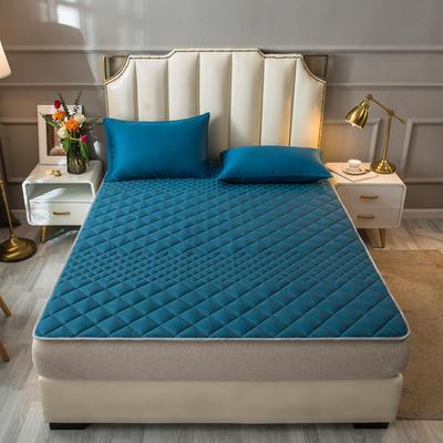 2021新款全棉抗菌防螨加厚床垫系列单人双人 1.2*2.0m 1.5CM绿色
