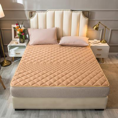 2021新款全棉抗菌防螨加厚床垫系列单人双人 1.2*2.0m 1.5CM驼色