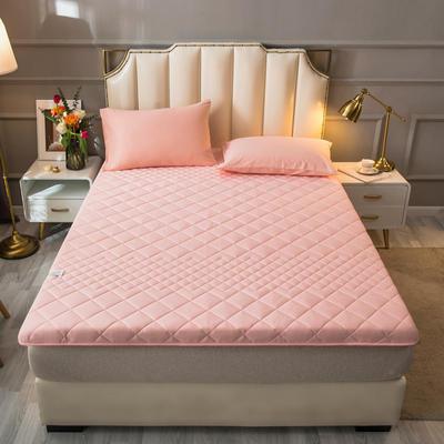 2021新款全棉抗菌防螨加厚床垫系列单人双人 0.9*2.0m 4.5CM粉色