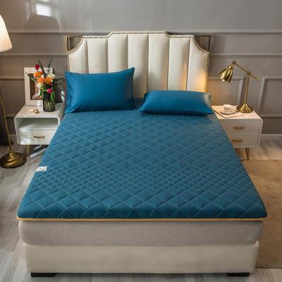2021新款全棉抗菌防螨加厚床垫系列单人双人 0.9*2.0m 4.5CM绿色