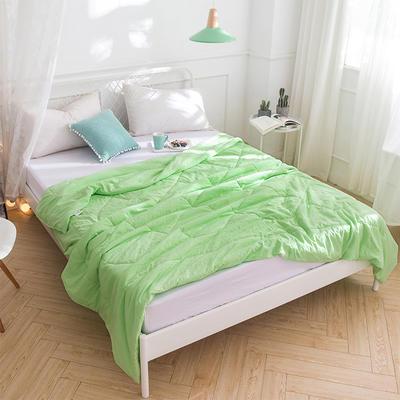 2019新品水洗棉夏被 110x150cm (主)绿色