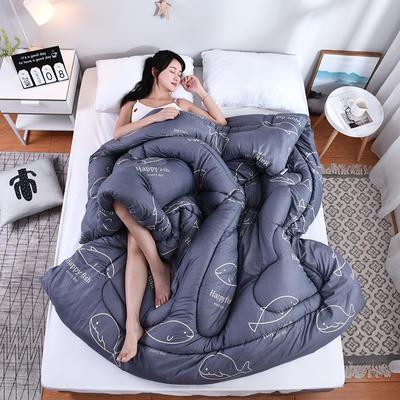 芦荟棉四季被(模特图) 150x200cm(2斤) 鲸鱼