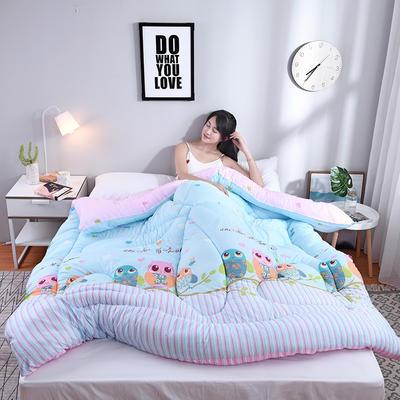 芦荟棉四季被(模特图) 150x200cm(2斤) 猫头鹰