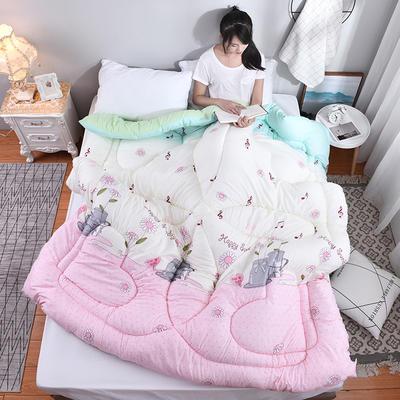 芦荟棉四季被(模特图) 150x200cm(2斤) 音符