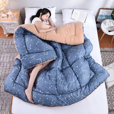羊羔绒秋冬被(模特图) 150x200cm(3斤) 星座恋人