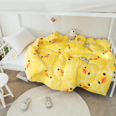 芦荟棉四季被{上下铺图} 150x200cm(2斤) 小黄鸭