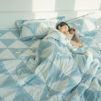 水洗棉夏被四件套 单枕套48*74cm 三角