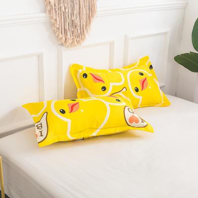 芦荟棉单枕套 45CMX75CM/只 鸭