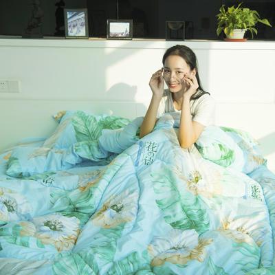 水洗棉夏被四件套 单枕套48*74cm 花语
