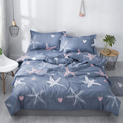 2019水洗棉夏被16个花色 单枕套48*74cm 海星