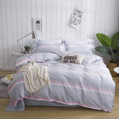 芦荟棉四件套 45*75cm/对 单枕套 粉条