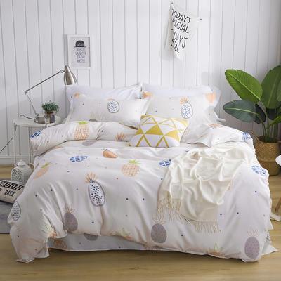 芦荟棉四件套 45*75cm/对 单枕套 菠萝