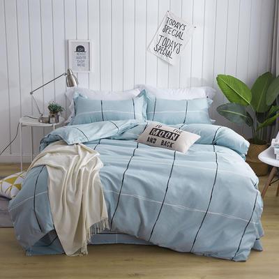 芦荟棉单床单 230cmx230cm 兰格