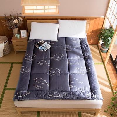 芦荟棉软垫被 90*200cm 鲸鱼