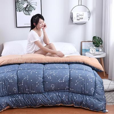 羊羔绒秋冬被(模特图) 150x200cm(5斤) 星座恋人