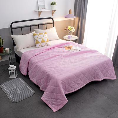 磨毛纯色夏被 单品夏被150x200cm 粉色