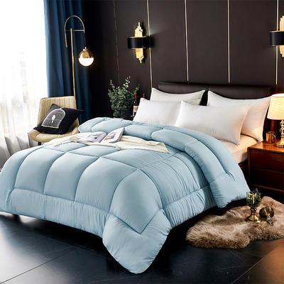 磨毛纯色冬被 150x200cm  2斤 蓝色
