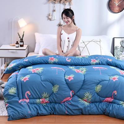 芦荟棉冬被 100x150cm  2斤 火鸟(模特图)