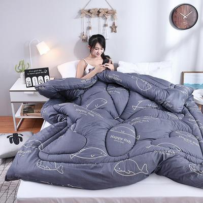 芦荟棉冬被 150x200cm  2斤 鲸鱼(模特图)