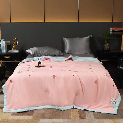 莫代尔天丝夏被 200X230cm 草莓星语—粉