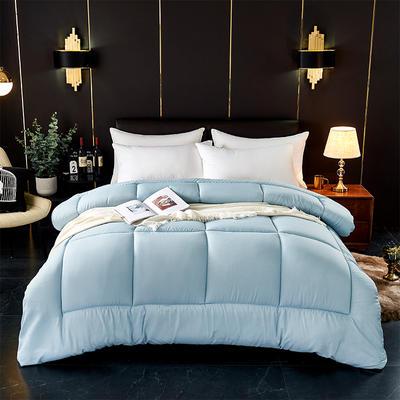 芦荟棉四季被 150x200cm  2斤 蓝色