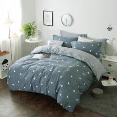 (总)新款推荐全棉12868斜纹印花四件套纯棉双人床上用品 1.5m(5英尺)床 爱巢