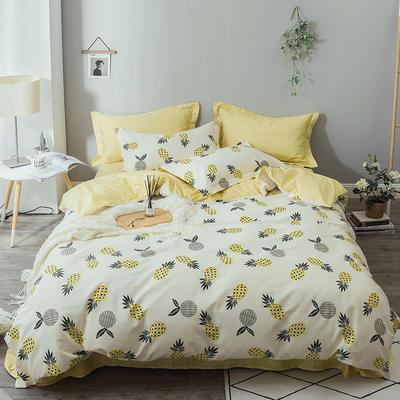 熱賣ins風爆款全棉12868印花四件套小清新學生純棉三件套 1.2m(4英尺)床 菠蘿
