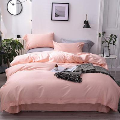 長絨棉60S支全棉紐扣款純色四件套2019新品床單款 1.5m(5英尺)床 公主玉