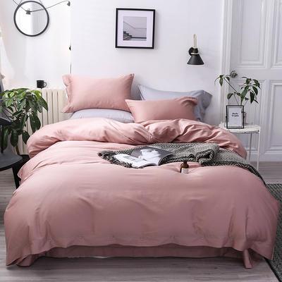 長絨棉60S支全棉紐扣款純色四件套2019新品床單款 1.5m(5英尺)床 貴妃玉