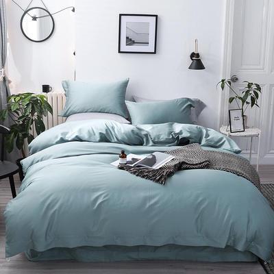 長絨棉60S支全棉紐扣款純色四件套2019新品床單款 1.5m(5英尺)床 墨爾本綠