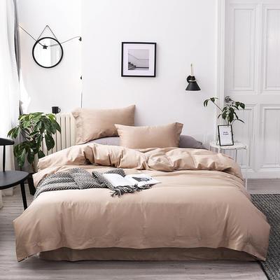 長絨棉60S支全棉紐扣款純色四件套2019新品床單款 1.5m(5英尺)床 香檳金
