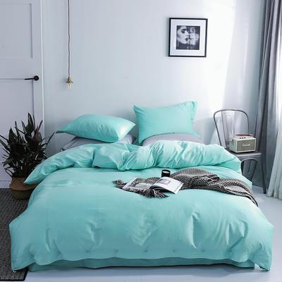 長絨棉60S支全棉紐扣款純色四件套2019新品床單款 1.5m(5英尺)床 幼葉綠
